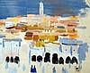 Henri Jean PONTOY (1888-1968) Ville d'Afrique du Nord. Aquarelle signée et datée