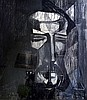 Joseph LACASSE (1894-1975) Tête de carrier. Fusain signé et daté 1913 en bas à d