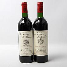 2 Flaschen LA DAME DE MONTROSE, 1995.