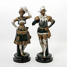 UTZSCHNEIDER & Cie/SARREGUEMINES, um 1900, Paar Figuren,