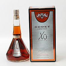 1 Flasche Godet Cognac, X.O, extra old,