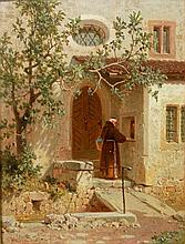 MEERMANN, ARNOLD (1829 - 1908): Die Klosterpforte.