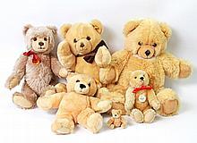 STEIFF Konvolut von 6 Teddybären, 20.Jh.,