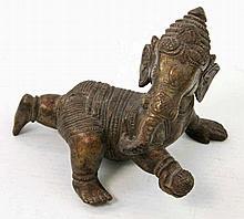 Ganesha aus Bronze. INDIEN, 1. Hälfte 20. Jh.