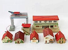 KIBRI u.a. Konvolut Bahnhof, Brücke, FALLER Häuschen,