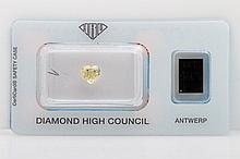 Loser Diamant im Herz-Schliff ca. 1,00ct, Fancy Yellow,
