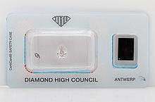 Loser Diamant-Tropfen ca. 1,02ct, Grey Pink,