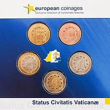 Vatikan - 5 Medaillen Thematik 'European Coinages',