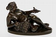 LARSEN, William Peter (1884-1961), 'Liegende Frau mit Taube', 1920/30.