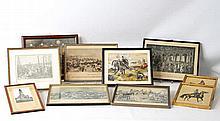Konvolut Bilder - 10 Stück, diverse Motive, u.a. Gefechtsszenen