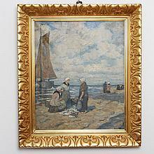Maler des 20. Jhd.: Fischerinnen am Strand