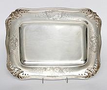 ERNEST CARDEILHAC, Tablett,  950 Silber, wohl um 1900.