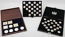 BRD - 36 x 5 DM sowie ca. 120 g Ag in Form von Medaillen,