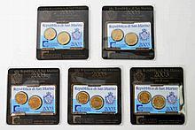 San Marino - 5 x Miniset 2003, 20 und 50 Euroscent,