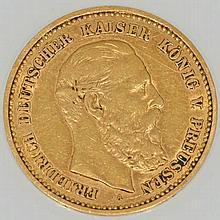 Deutsches Reich/GOLD - 10 Mark 1888 A, Friedrich v. Preußen,