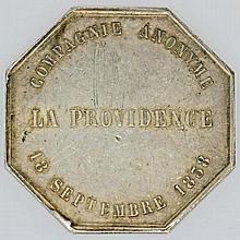 Frankreich - Jeton Argent Compagnie AnonymeLa Providence 1838,