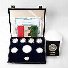 Mexiko 1986 / Silber - 9 Gedenkmünzen verschiedener Länder und KMS Mexiko 1982,
