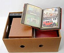 Briefmarken - Karton mit Bund Maximumkarten und FDC in Alben.