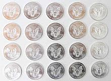 USA - 20 x 1 Dollar, 1 Unze Feinsilber, 2013, Liberty +