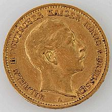 Preussen - 20 Mark 1889/A, Wilhelm II,