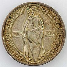 Weimarer Republik - 3 RM Naumburg 1928,