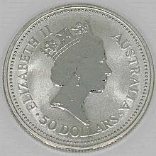 Australien - 50 Dollars 1990, PLATIN,