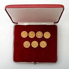 Deutsches Reich/GOLD - Konvolut: 7 x 20 Mark Wilhelm II. v. Preußen,