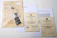 III. Reich - Konvolut: Diverse Papiere und Urkunden, Fotos und weiteres,