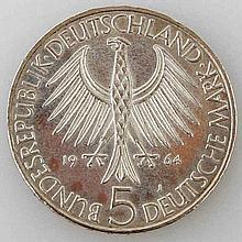 Bundesrepublik - 5 DEM Fichte 1964,