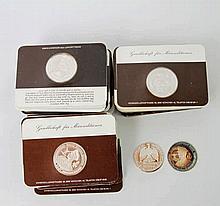 II. Weltkrieg / SILBER- 49 moderne Silbermedaillen mit