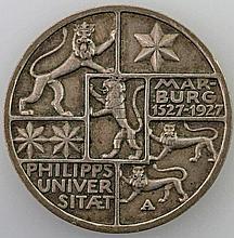 Weimarer Republik - 3 Mark Marburg 1927/A,