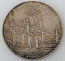 Ravensburg, Stadt - Breiter Schautaler 1624, Augsburg. Regimentstaler.