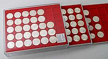 Österreich - 3 LINDNER Tableaus mit 2, 25, 50 und 100 Schillingen,