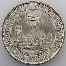 Weimarer Republik - 3 Mark Magdeburg, 1931