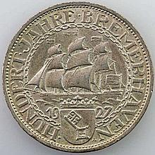 Weimarer Republik - 3 Mark Bremerhaven, 1927