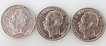 Baden - Konvolut: 3 x Drei Mark, Friedrich II,