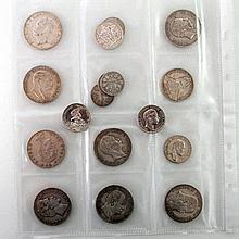 Deutsches Kaiserreich - Konvolut: 17 Münzen, u. a.