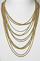 CHRISTIAN DIOR Long, two-row necklace, gold and silver color.