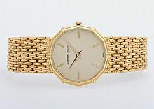 AUDEMARS PIGUET Armbanduhr, 1980/90er Jahre. D: ca. 29,0mm. GG 18K.