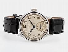 GIRARD PERREGAUX Armbanduhr, 1940/50er Jahre. Stahl. D: ca. 30mm.