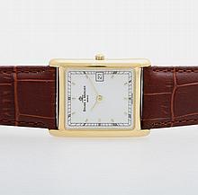 BAUME & MERCIER Armbanduhr, GG 18K. Quarz-Werk,