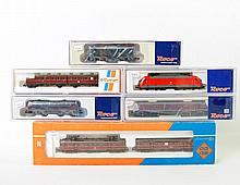 ROCO Konvolut von 6 Lokomotiven 2160A, 23268, 23451, 23393, 23420 und 23010, Spur N.