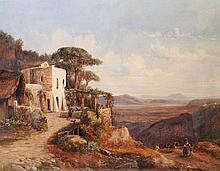 GIRARD, PIERRE ATTR (1806-1872): Landschaft bei Sorrent.