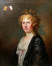 PORTRÄTMALER, 18. Jh.: Bildnis der Sophie Auguste Albertine von Gustedt, geb. von Rohr (1768-1799).