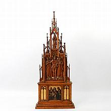 Kleines Altarretabel, wohl 19.Jh./ um 1900,