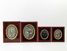 DEUTSCH, 19. Jh.: vier Daguerreotypien von Mitgliedern der Familie Schölkopf.