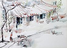 VALENTIN, OTTO ATTR. (1897-?): Boulevard-Szene mit Marktfrau.