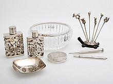 Konvolut 14 Teile, überwiegend Silber: