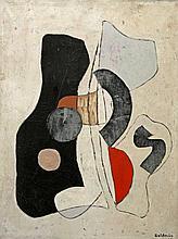 BALDZSUS, ULRICH (1931-2010): Ohne Titel (abstrakte Komposition), 1962.