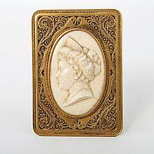 Viktorianisches Profilmedaillon, um 1900